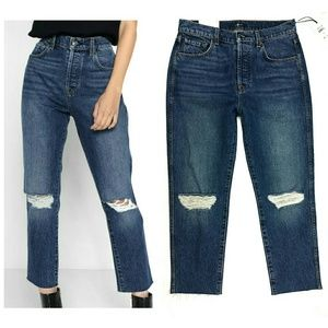 7 FOR ALL MANKIND Josefina high waist cropped 28